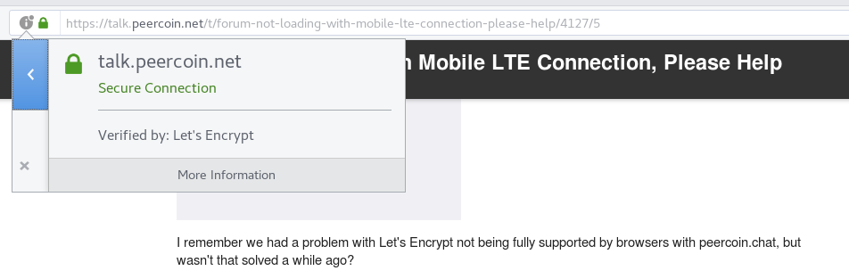 Problem Solved) Forum Not Loading With Mobile LTE Connection