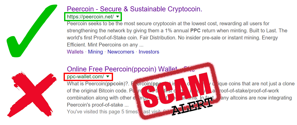 SCAM ALERT! Peercoin Web Wallet PPC-WALLET COM - Let's SHUT THEM